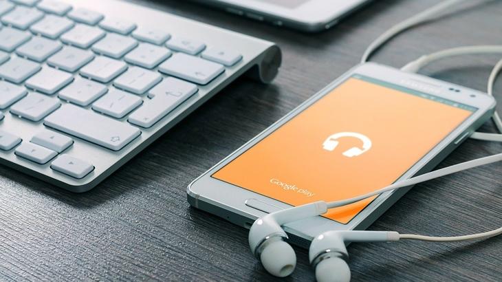 スマホの音楽アプリ